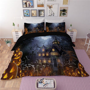 The Creepy Halloween House Duvet Bedding Set