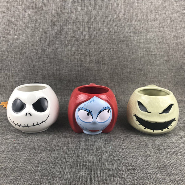 Set of 3 Nightmare Before Christmas Mugs/Cups