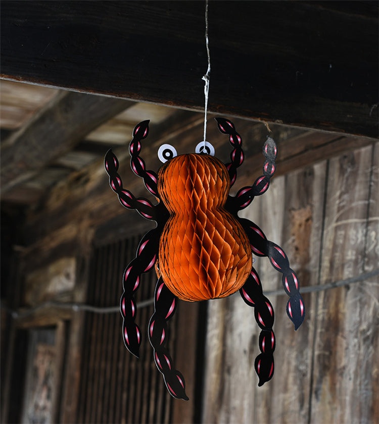 5pcs Hanging Halloween Spiders Decorations