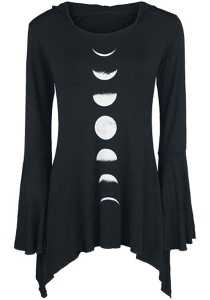 Moon Phases Long Sleeve Shirt