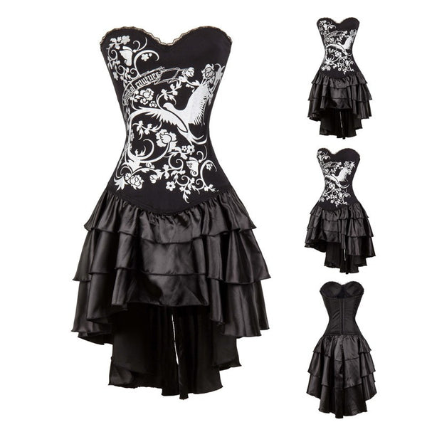Gothic Burlesque Corset Dress