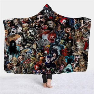 Horror Characters 2 Hooded Blanket