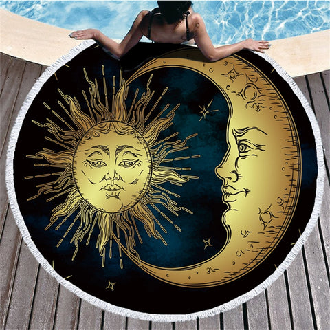 Moon & Sun Mandala Beach Towel