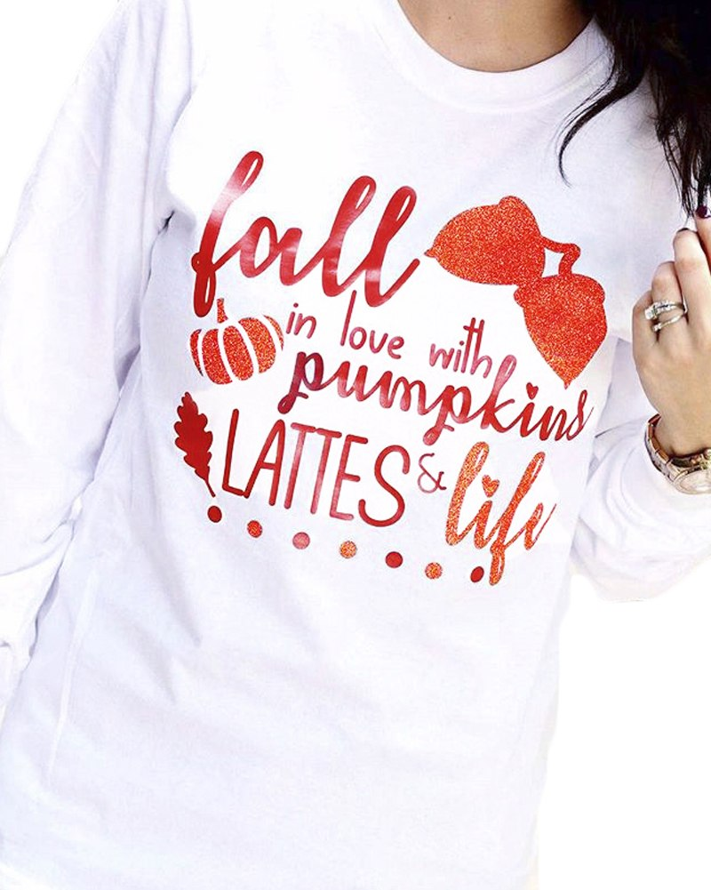 Fall in Love with Pumpkins Lattes and Life Long Sleeve Shirt