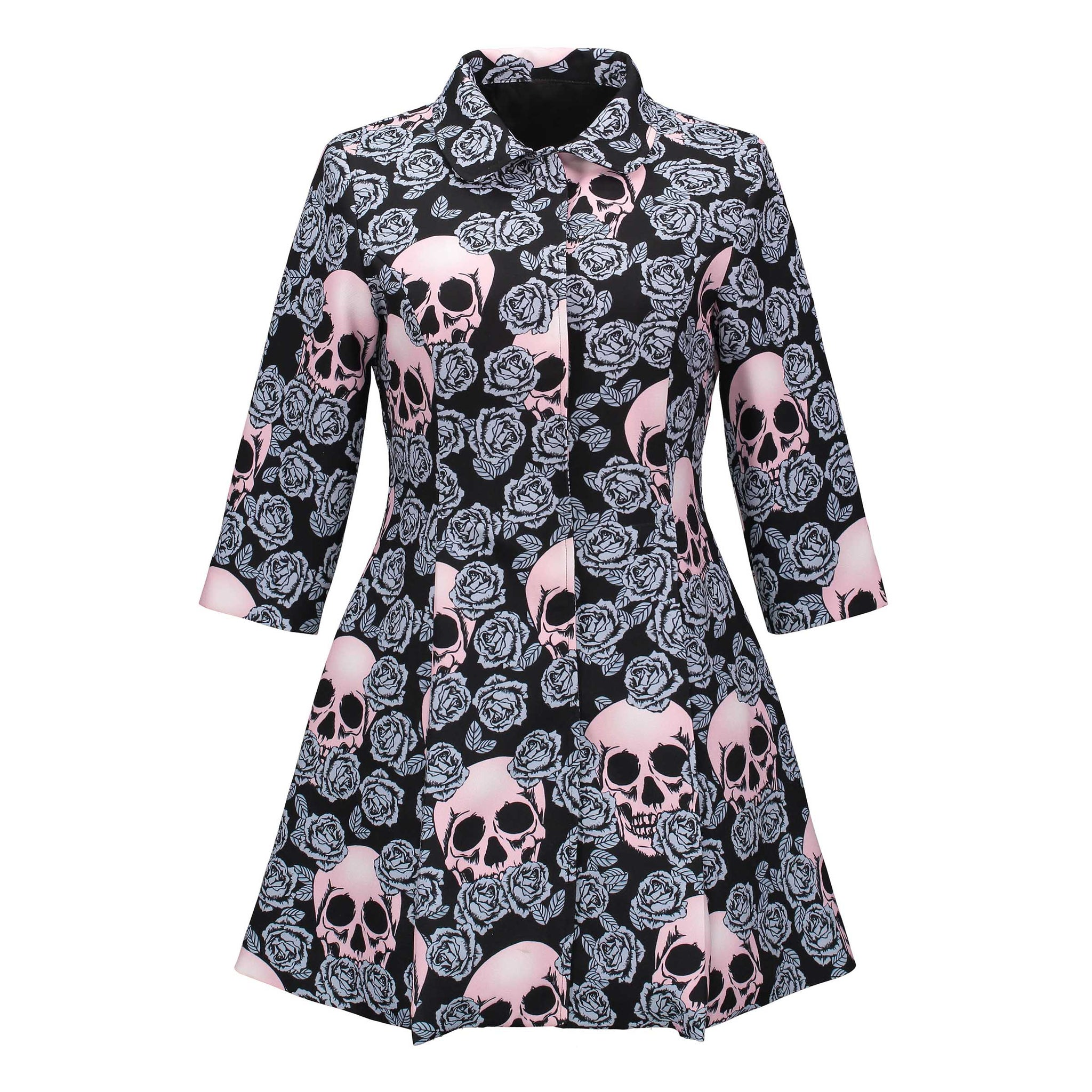Gothic skull Mid-long Outerwear Jacket