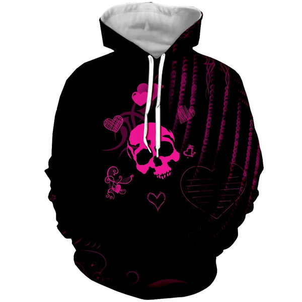 Skull Love Hooded Sweatshirt