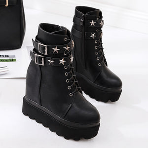 High Heel Platform Gothic Ankle Fashion Boots