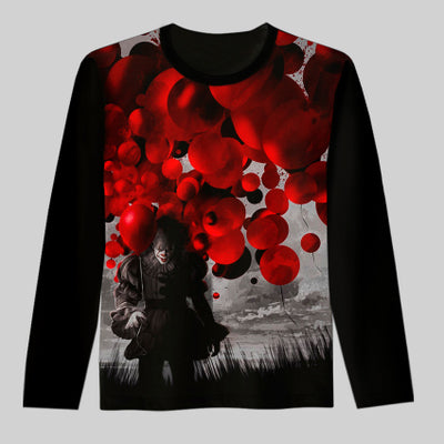 Pennywise Long Sleeve Horror Sweatshirts