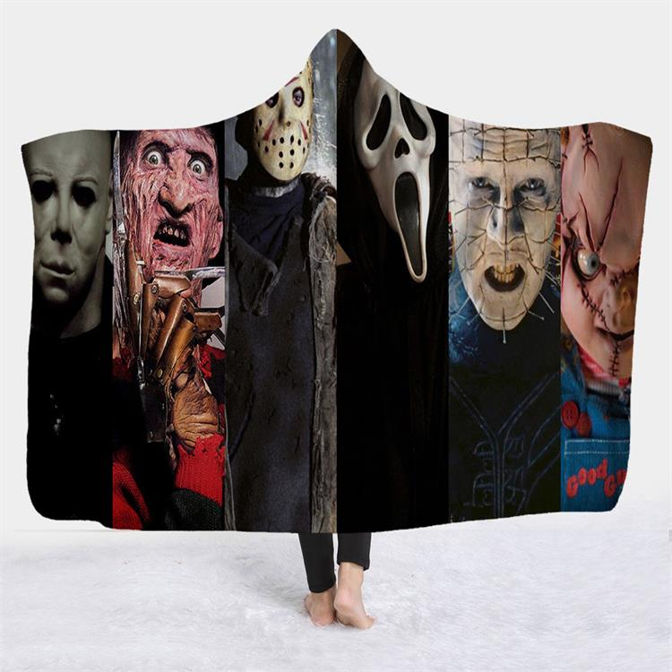 Horror Villains Hooded Blanket
