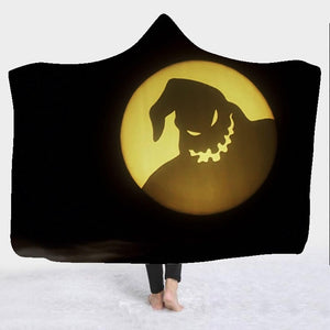 3D Printed Nightmare Before Christmas Hooded Blanket