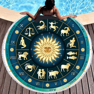 Astrology Tarot Beach Towel