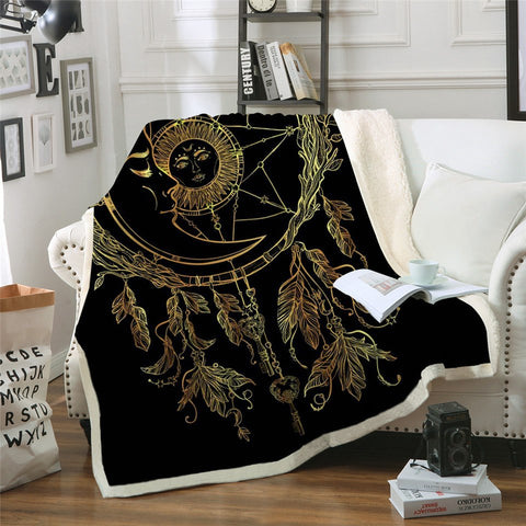 Sun and Moon Dreamcatcher Blanket