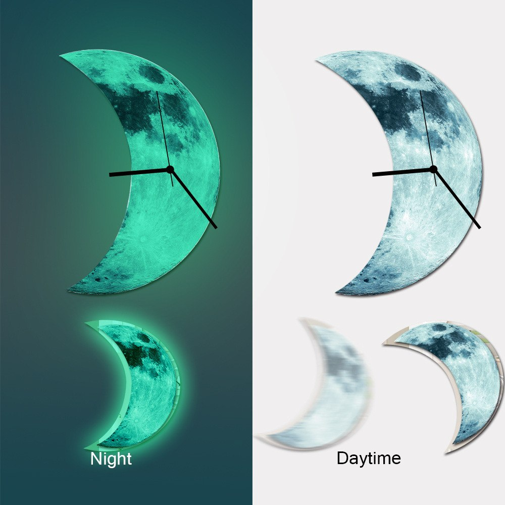Luminous Moon Wall Clock