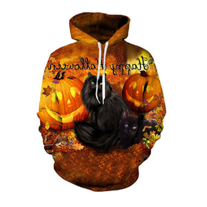 Halloween Kitty 3D Hooded Sweatshirt