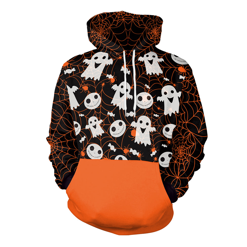 Halloween Hooded Pocket Sweatshirt