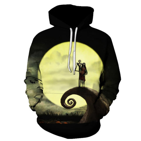 3D Printed Nightmare Before Christmas Hoodie Sweatshirt