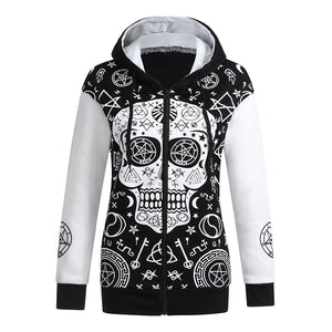 Skull Symbol Hooded Sweatshirt