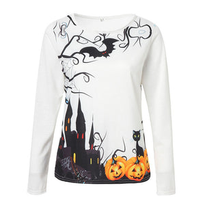Spooky Castle Casual Blouse