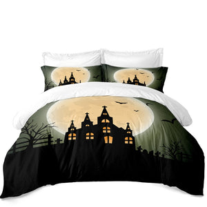 Moonlight Castle  3PC Duvet Bedding Set