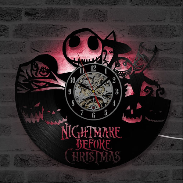 Nightmare Before Christmas LED Colors Clock
