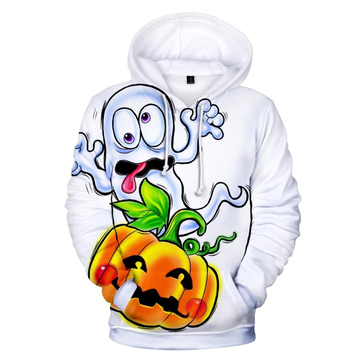 The Crazy Ghost 3D Hooded Sweatshirt
