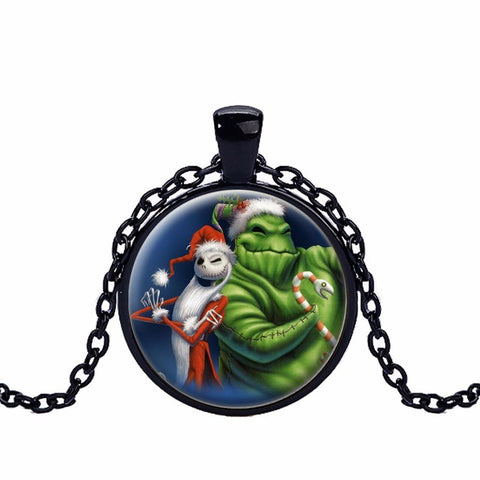 Jack And Oogie Boogie Pendant Necklace