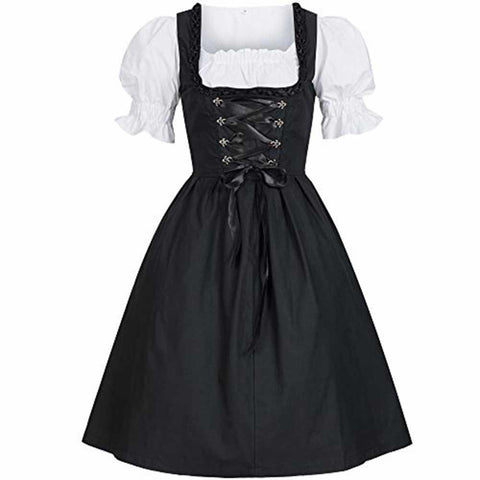 Gothic Short Lace Up Bow Dress