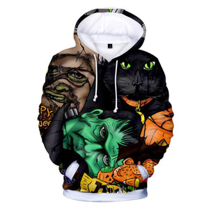 Happy Halloween 3D Hooded Sweatshirt