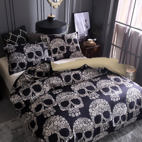3D Sugar Skull 3pc Bedding Set