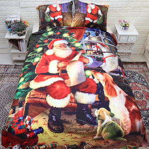 3D Print Christmas Santa Claus 3pc Sheet Set