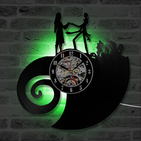 Nightmare Before Christmas Jack & Sally LED Clock