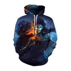 Tormented Pumpkin 3D Hooded Sweatshirt