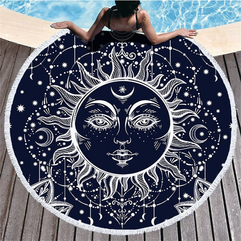 Sun Mandala Beach Towel