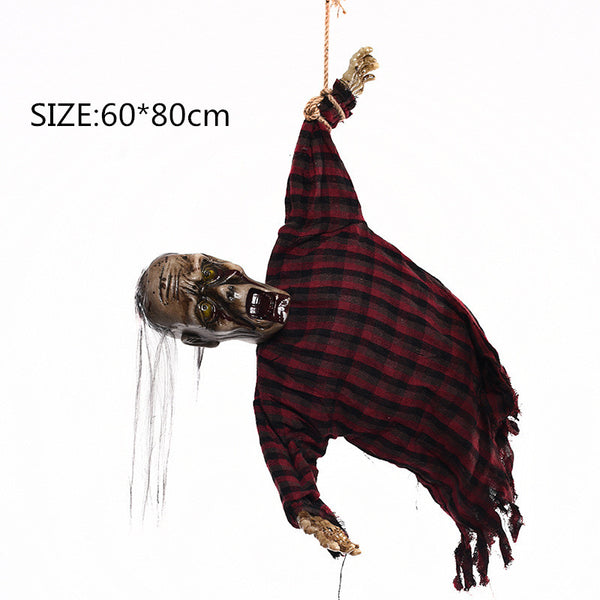 Halloween Hanging Decoration Electric Ghost With Sensor Light