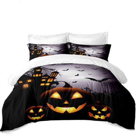 Halloween Night 3PC Duvet Bedding Set