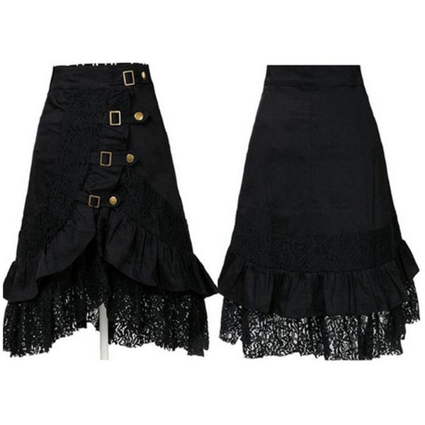 SteamPunk Black Lace Skirt