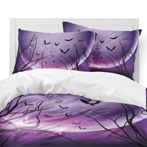 Purple Night Flight 3PC Duvet Bedding Set