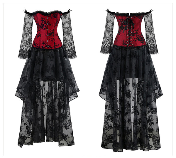 Vintage Corset Gothic Dress