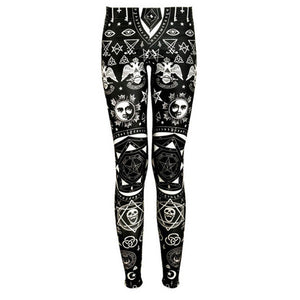 Gothic Stretch Breathable Slim Leggings