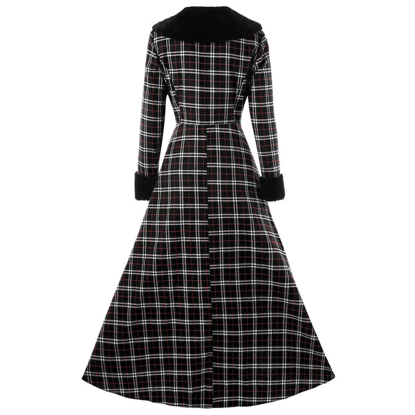 Plus Size Gothic Style Plaid Coat Jacket