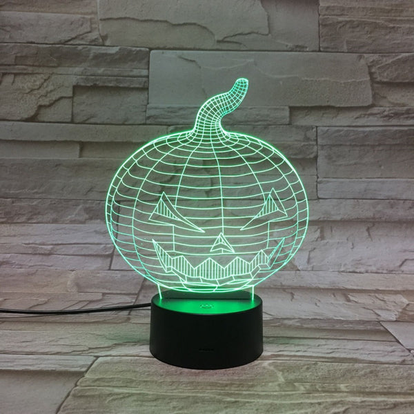 7 Color 3D LED  Acrylic Pumpkin Table Lamp