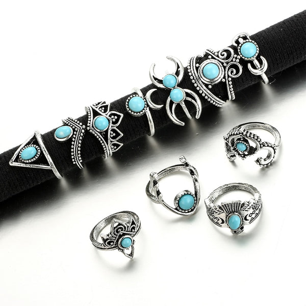 11pcs/Set Bohemia Vintage Style Rings