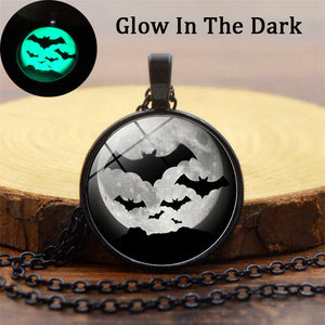 Luminous Bat  Pendant Necklace