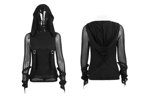 Punk Rave Emo Hooded Rockabilly Gothic Vintage Hooded Shirt