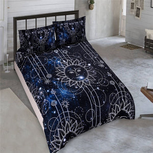 3D Printed Moon Sun Bedding Set