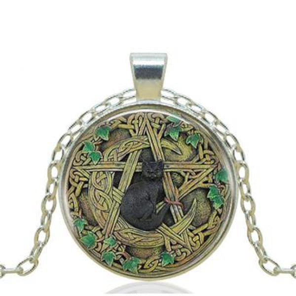 Earth Cat Pendant Necklace