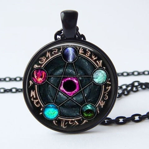 Wiccan Zodiac Pendant Necklace