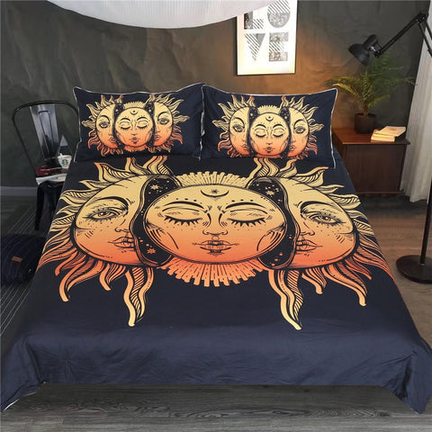 Moon Sun and Stars Boho Bedding