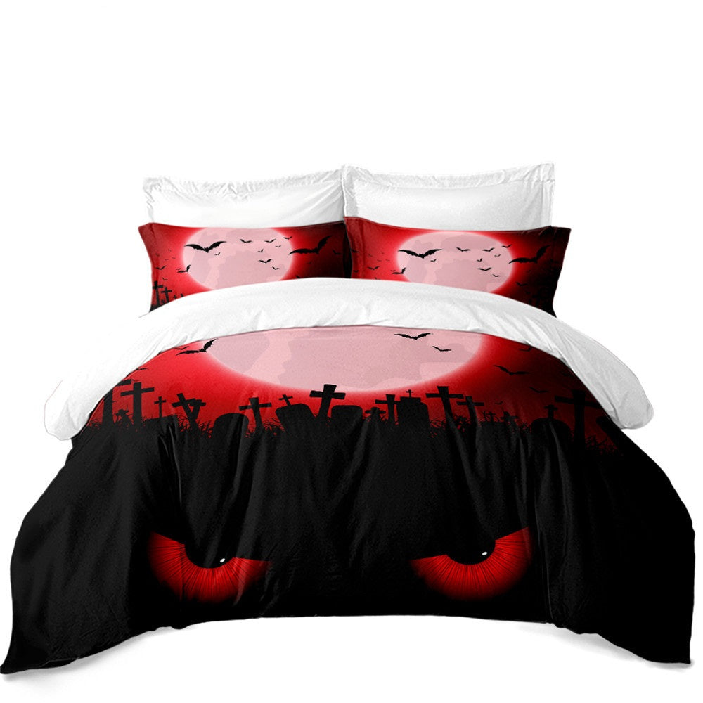 The Creepy Cat 3PC Duvet Bedding Set