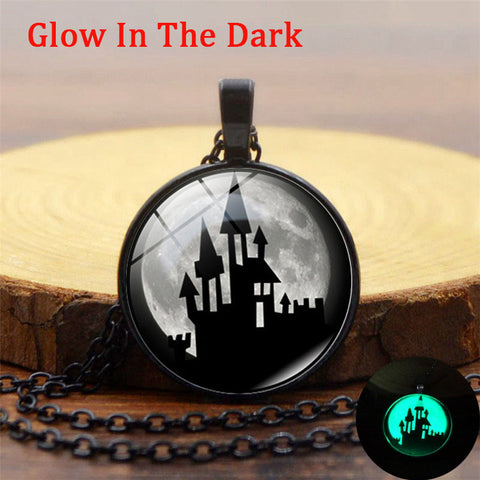 Luminous Haunted Castle Pendant Necklace